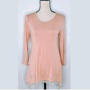 🧡Logo Lori Goldstein Tunic Blush Pink top XS